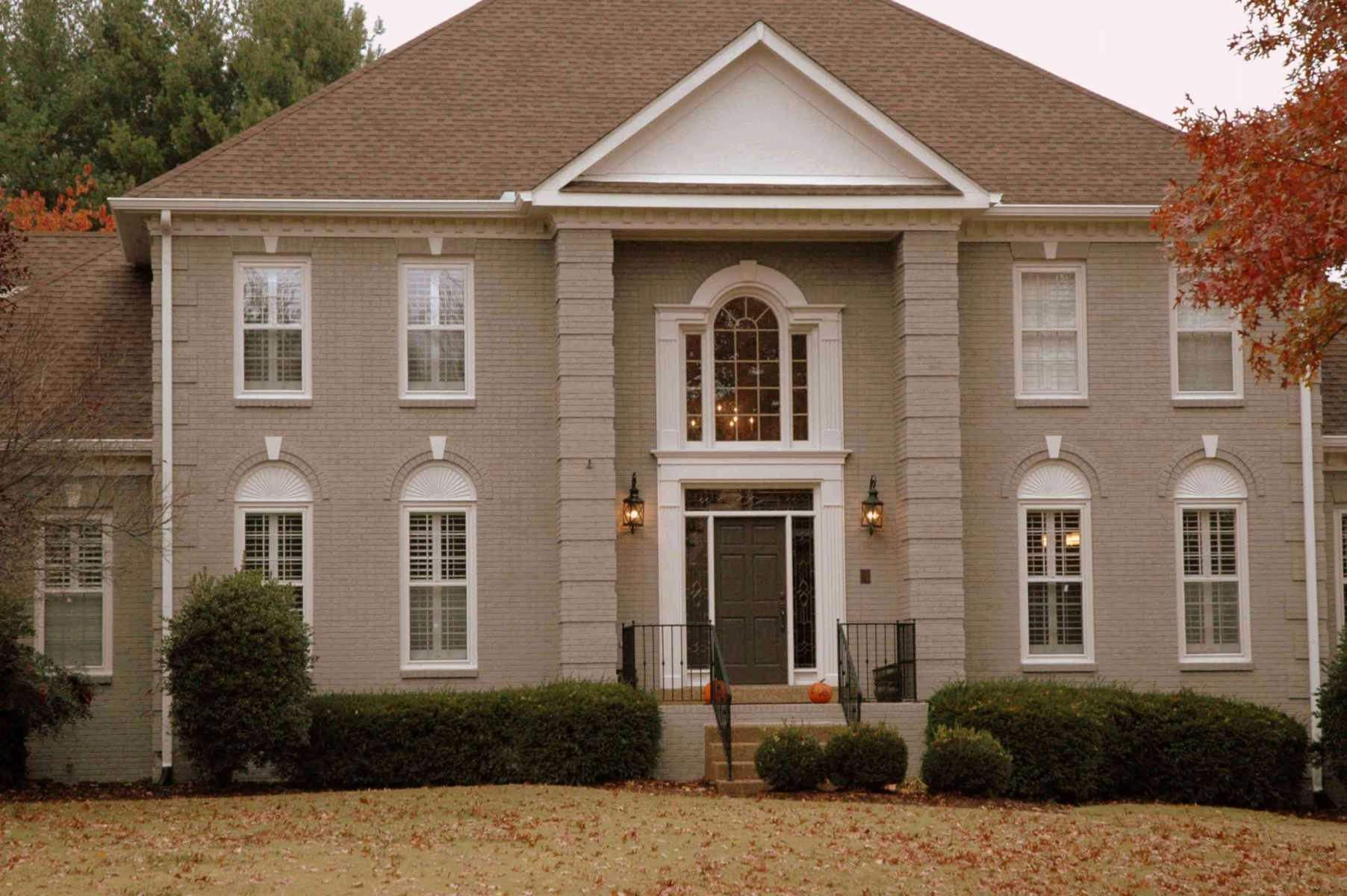 ألوان صبغ البيوت من الخارج باللون الكريمي
